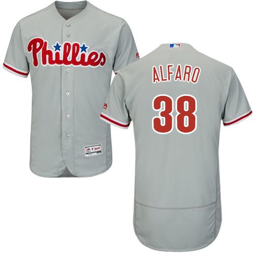 Philadelphia Phillies #38 Jorge Alfaro Grey Flexbase Authentic Collection Stitched Baseball Jersey