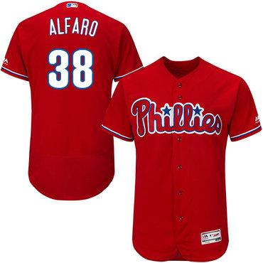 Philadelphia Phillies #38 Jorge Alfaro Red Flexbase Authentic Collection Stitched Baseball Jersey