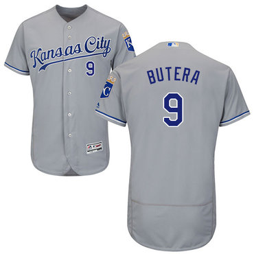 Kansas City Royals #9 Drew Butera Grey Flexbase Authentic Collection Stitched Baseball Jersey