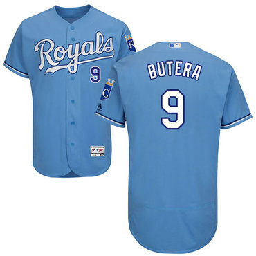 Kansas City Royals #9 Drew Butera Light Blue Flexbase Authentic Collection Stitched Baseball Jersey