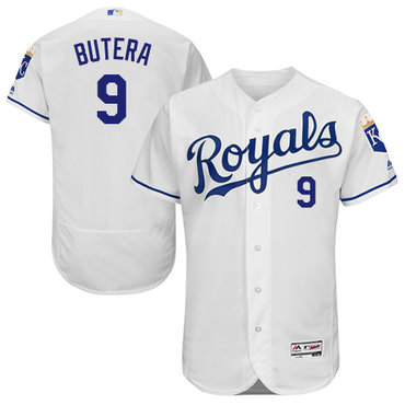 Kansas City Royals #9 Drew Butera White Flexbase Authentic Collection Stitched Baseball Jersey
