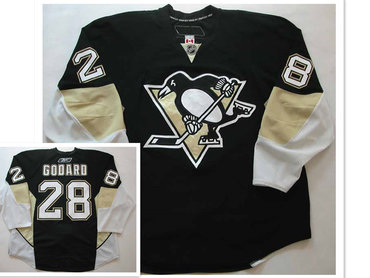 Pittsburgh Penguins #28 Eric Godard Black 2008-09 Jersey