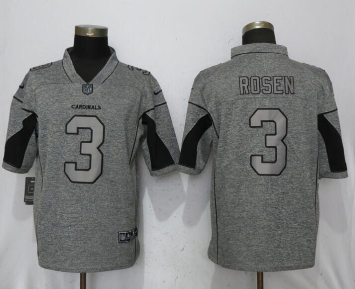 Nike Arizona Cardinals #3 Josh Rosen Gray Gridiron Gray Vapor Untouchable Limited Jersey