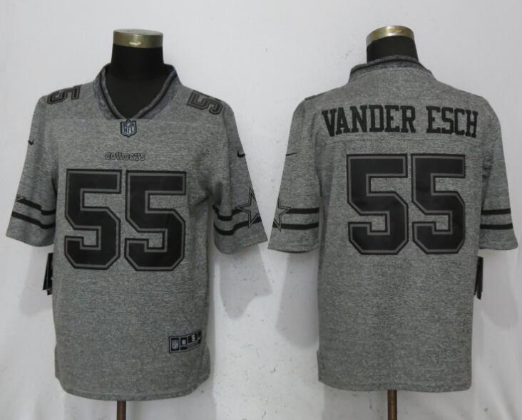 pretty nice ad2d7 a18d8 Nike Dallas Cowboys #55 Leighton Vander Esch Gray Gridiron ...