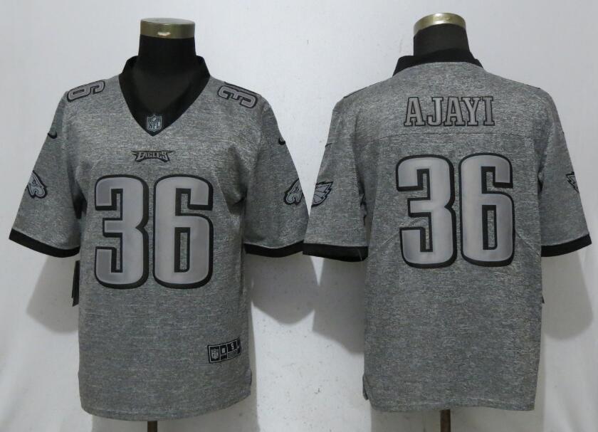 Nike Philadelphia Eagles #36 Jay Ajayi Gray Gridiron Gray Vapor Untouchable Limited Jersey
