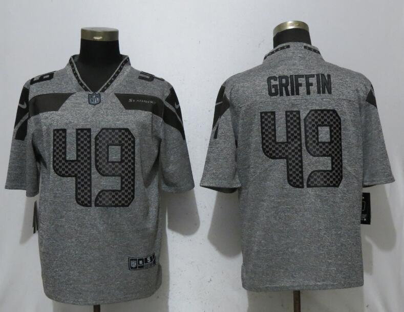 Nike Seattle Seahawks 49 Shaquem Griffin Gray Gridiron Gray Vapor Untouchable Limited Jersey