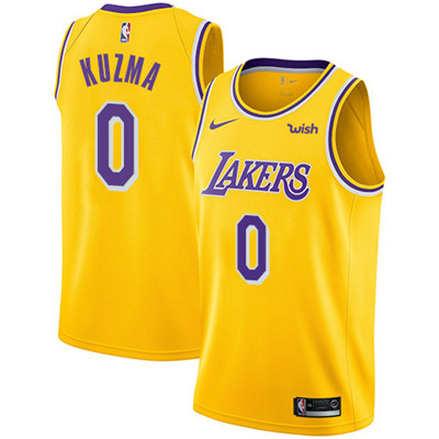 Nike Los Angeles Lakers #0 Kyle Kuzma Gold NBA Swingman Icon Edition Jersey