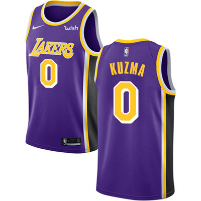 Nike Los Angeles Lakers #0 Kyle Kuzma Purple NBA Swingman Statement Edition Jersey