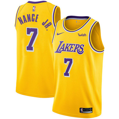 Nike Los Angeles Lakers #7 Larry Nance Jr. Gold NBA Swingman Icon Edition Jersey