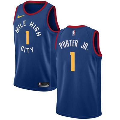 Nike Denver Nuggets #1 Michael Porter Jr. Navy NBA Swingman City Edition Jersey