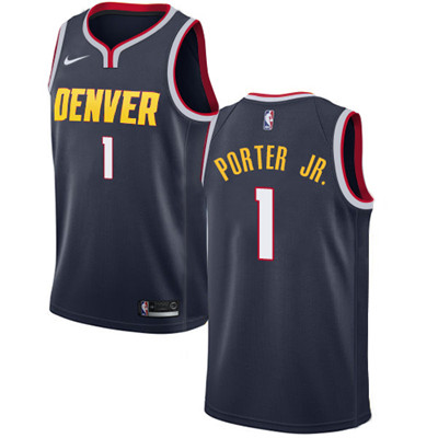 Nike Denver Nuggets #1 Michael Porter Jr. Navy NBA Swingman Icon Edition Jersey