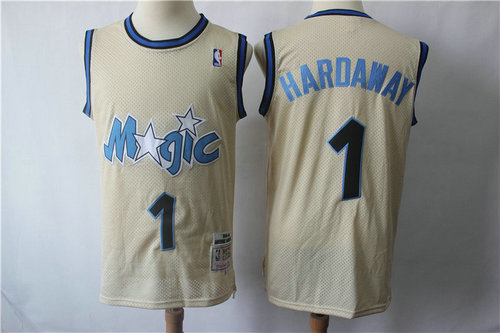 Orlando Magic #1 Hardaway Blue Throwback Jersey