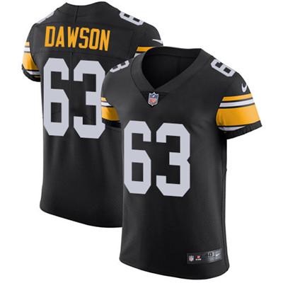 eaae5d5fcd4 Nike Steelers  63 Dermontti Dawson Black Alternate Men s Stitched NFL Vapor  Untouchable Elite Jersey