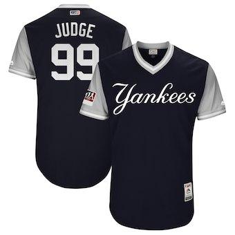 Men's New York Yankees 99 Aaron Judge Judge Majestic Navy 2018 Players' Weekend Authentic Jersey