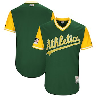 Men's Oakland Athletics Blank Majestic Green 2018 Players' Weekend Authentic Team Jersey