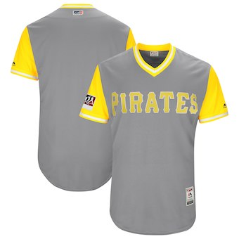 Men's Pittsburgh Pirates Blank Majestic Gray 2018 Players' Weekend Authentic Team Jersey