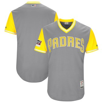 Men's San Diego Padres Blank Majestic Gray 2018 Players' Weekend Authentic Team Jersey