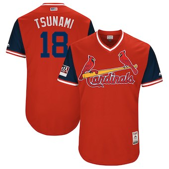 Men's St. Louis Cardinals Carlos Martinez Tsunami Majestic Red 2018 Players' Weekend Authentic Jersey