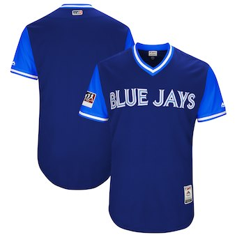 Men's Toronto Blue Jays Blank Majestic Royal 2018 Players' Weekend Authentic Team Jersey
