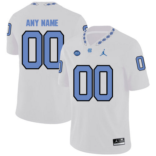 North Carolina Tar Heels Men's Customized White College Football Jersey