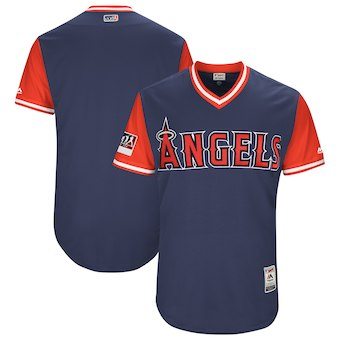 Men's Los Angeles Angels Blank Majestic Navy 2018 Players' Weekend Authentic Team Jersey