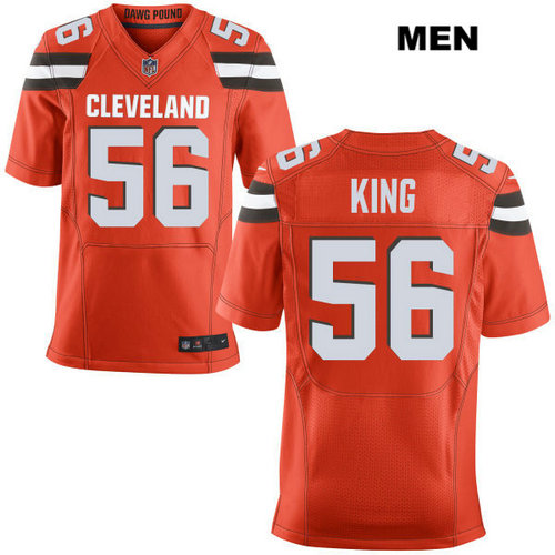 Nike Cleveland Browns #56 Deon King Orange Stitched NFL Elite Jersey