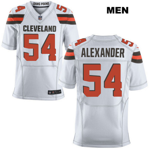 Nike Cleveland Browns #54 Dominique Alexander White Stitched NFL Elite Jersey