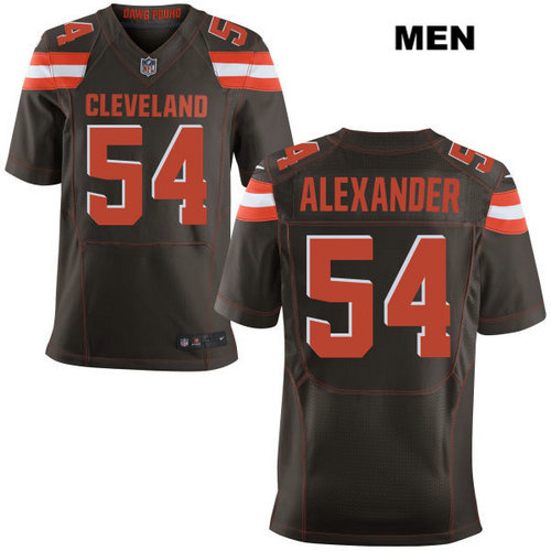 Nike Cleveland Browns #54 Dominique Alexander Brown Stitched NFL Elite Jersey