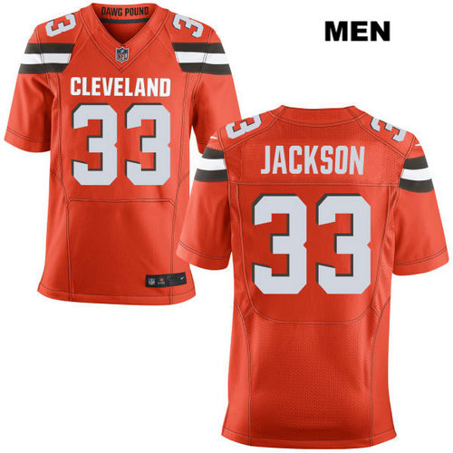 Nike Cleveland Browns #33 Darius Jackson Orange Stitched NFL Elite Jersey