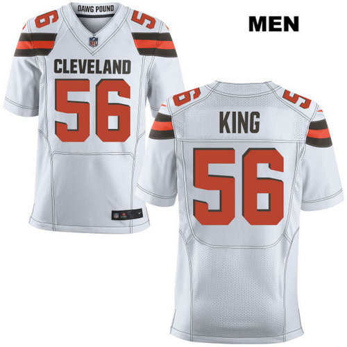Nike Cleveland Browns #56 Deon King White Stitched NFL Elite Jersey