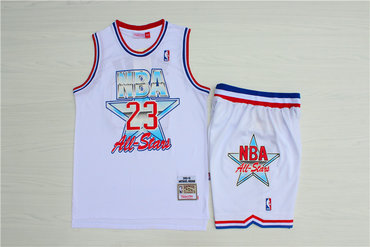 Bulls #23 Michael Jordan White 1992 All-Star Hardwood Claasics Jersey(With Shorts)