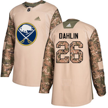 Adidas Buffalo Sabres #26 Rasmus Dahlin Camo Authentic 2017 Veterans Day Stitched NHL Jersey