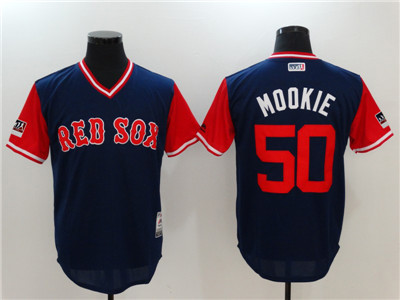 Red Sox #50 Mookie Betts Mookie Navy 2018 Players' Weekend Authentic Team Jersey