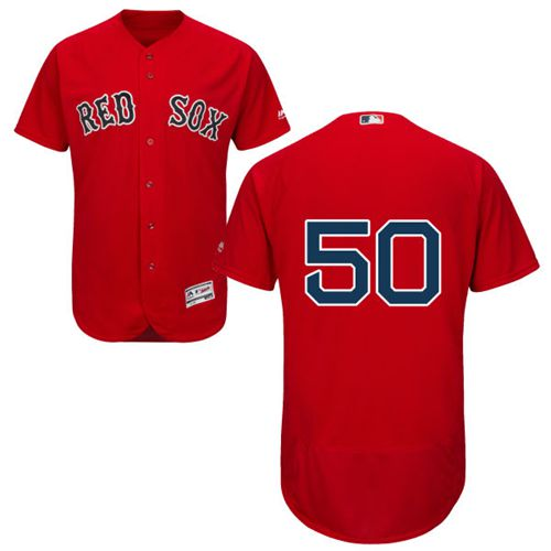 Red Sox #50 Mookie Betts Red Flexbase Authentic Collection Stitched MLB Jersey