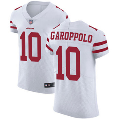 Nike San Francisco 49ers #10 Jimmy Garoppolo White Men's Stitched NFL Vapor Untouchable Elite Jersey