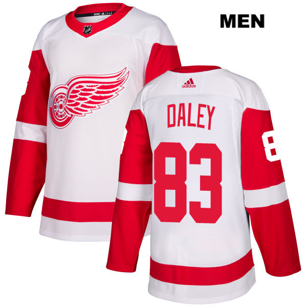 Mens Adidas Detroit Red Wings #83 Trevor Daley White Away Authentic NHL Jersey