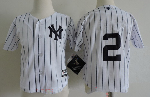 pretty nice eed63 de1db Toddler New York Yankees 2 Derek Jeter White Home Stitched ...