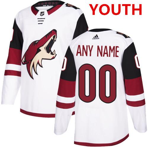 Youth Adidas Arizona Coyotes NHL Authentic White Customized Jersey ...
