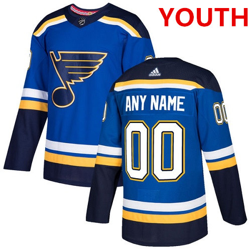 b9b7f40dc5e Youth Adidas St. Louis Blues Customized Authentic Royal Blue Home NHL Jersey