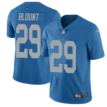 Men's NFL Detroit Lions #29 LeGarrette Blount Blue Vapor Untouchable Limited Alternate Nike Jersey