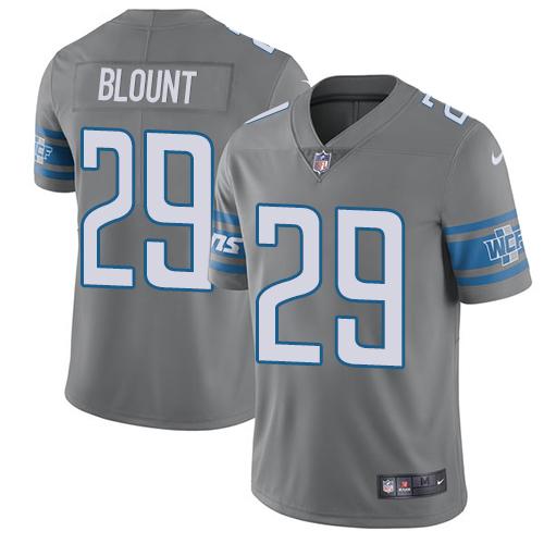 Men's NFL Detroit Lions #29 LeGarrette Blount Gray Rush Vapor Untouchable Limited Nike Jersey