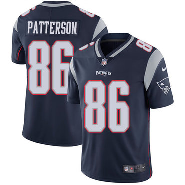 Nike Men's New England Patriots #86 Cordarrelle Patterson Navy Blue Home Vapor Untouchable Limited Jersey
