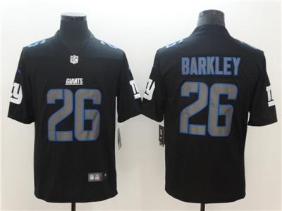 low priced ae79c d2d94 Nike New York Giants #26 Saquon Barkley Black Vapor Impact ...