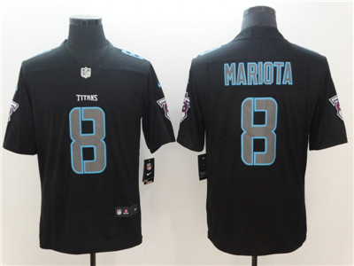 Nike Tennessee Titans #8 Marcus Mariota Black Vapor Impact Limited Jersey