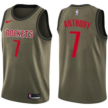 Nike Houston Rockets #7 Carmelo Anthony Green NBA Swingman Salute to Service Jersey