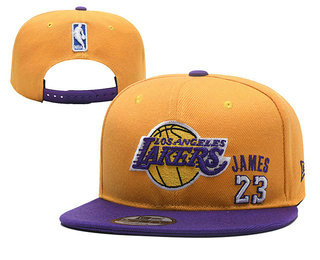 online store faa8d b40ee Men's Los Angeles Lakers #23 LeBron James Purple Snapback ...