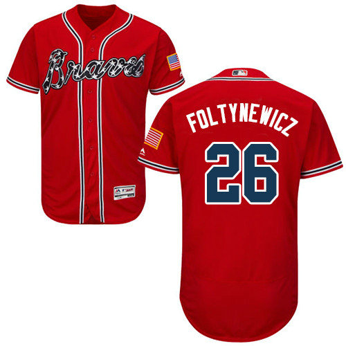 Atlanta Braves 26 Mike Foltynewicz Red Flexbase Authentic Collection Stitched Baseball Jersey