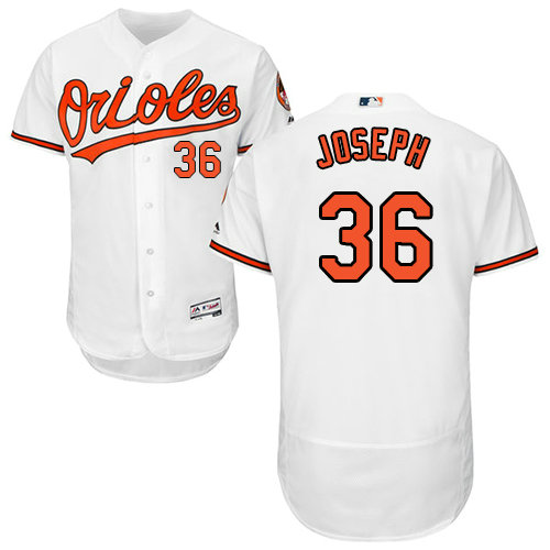Baltimore Orioles 36 Caleb Joseph White Flexbase Authentic Collection Stitched Baseball Jersey