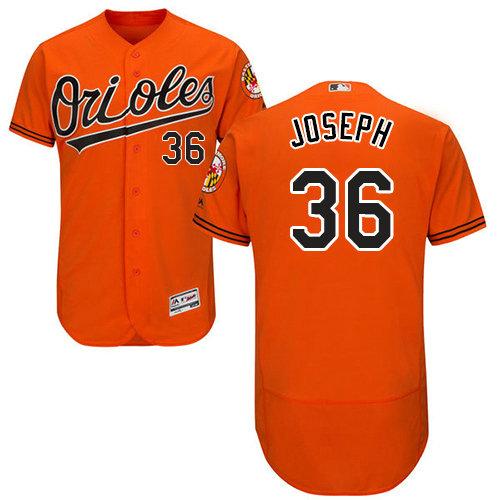 Baltimore Orioles 36 Caleb Joseph Orange Flexbase Authentic Collection Stitched Baseball Jersey