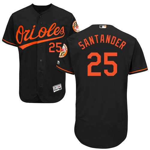 Baltimore Orioles 25 Anthony Santander Black Flexbase Authentic Collection Stitched Baseball Jersey